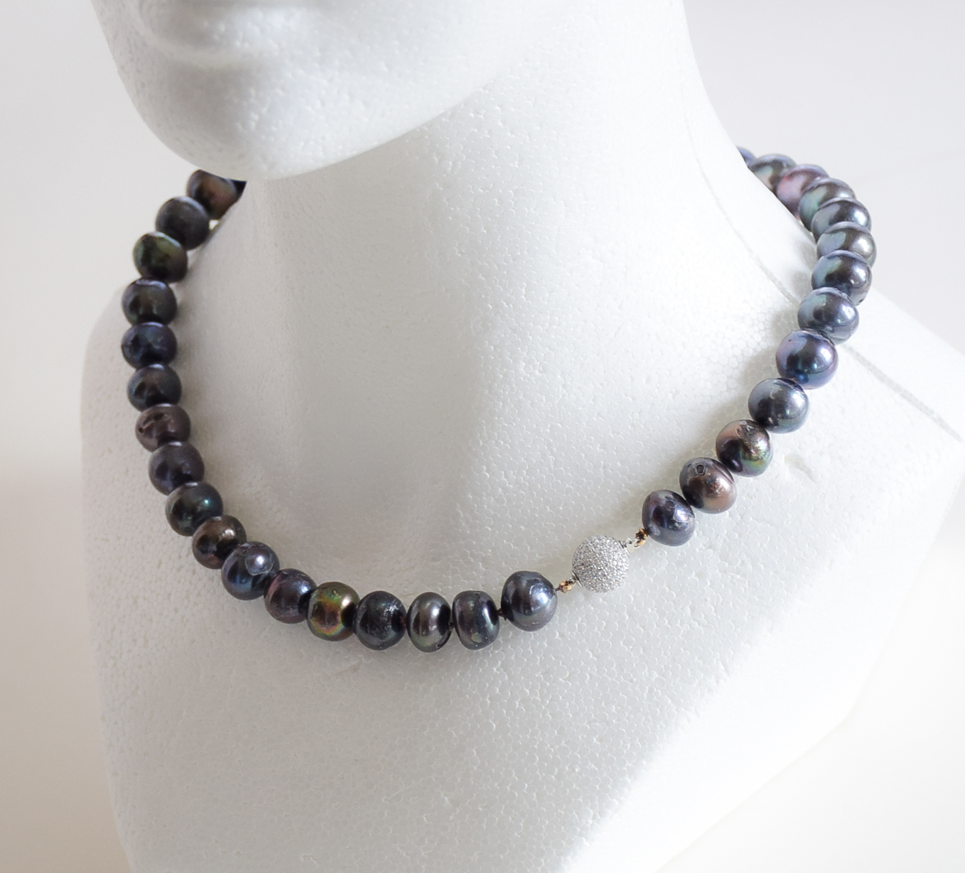 necklace aa pearl strand products mm double black freshwater