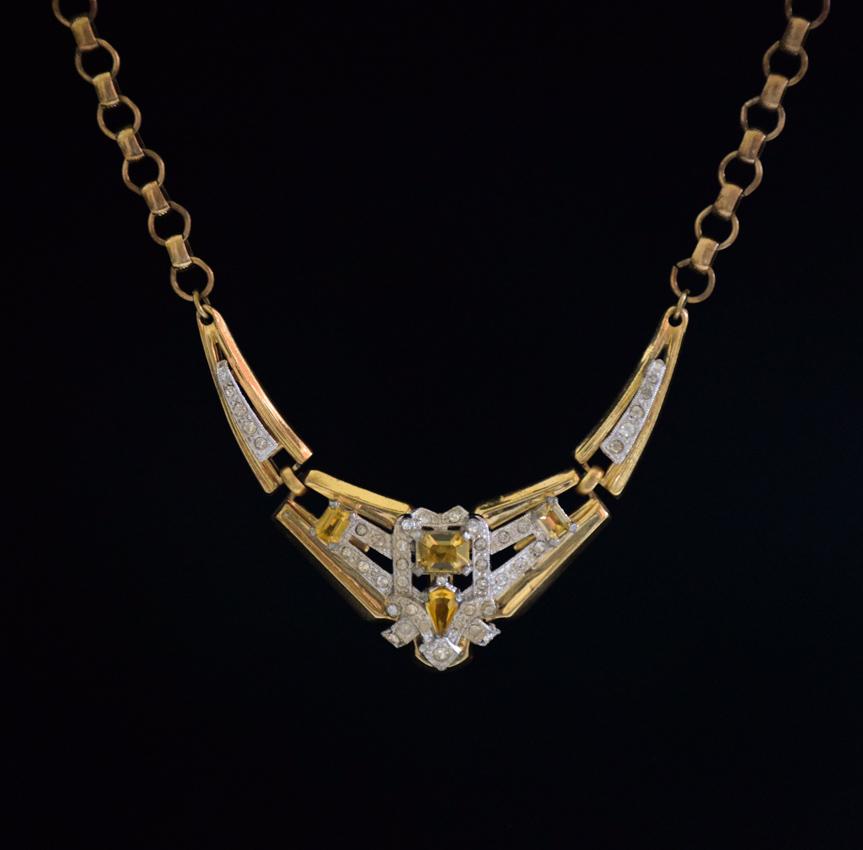 1930s Mc Clelland Barclay Art Deco Necklace Twentieth
