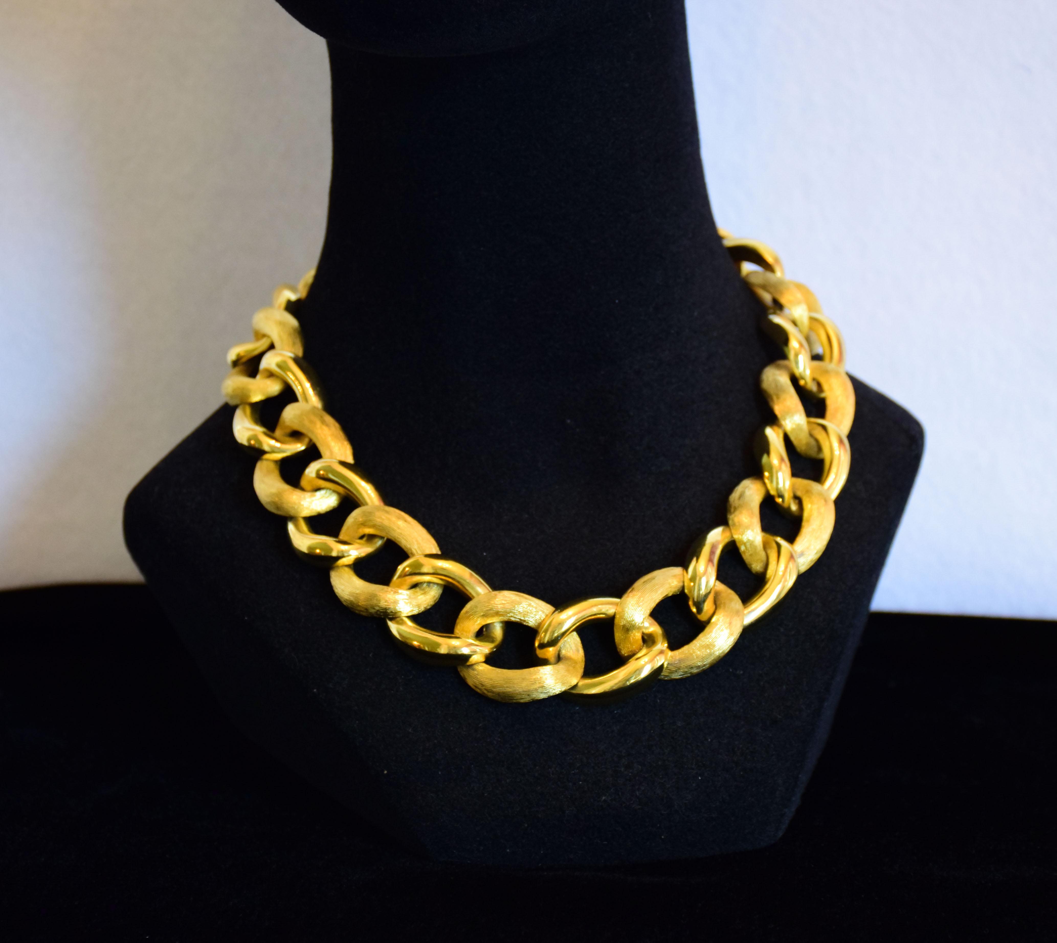 Napier Gold Tone Necklace Twentieth Century